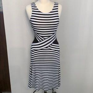 Moschino black and white striped dress sz XS